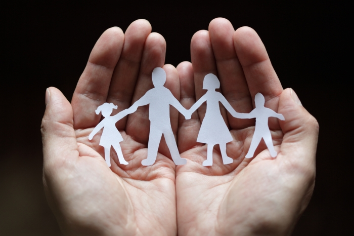 Paper Cut Out Family