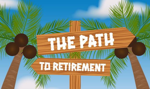 Path to retirement infographic