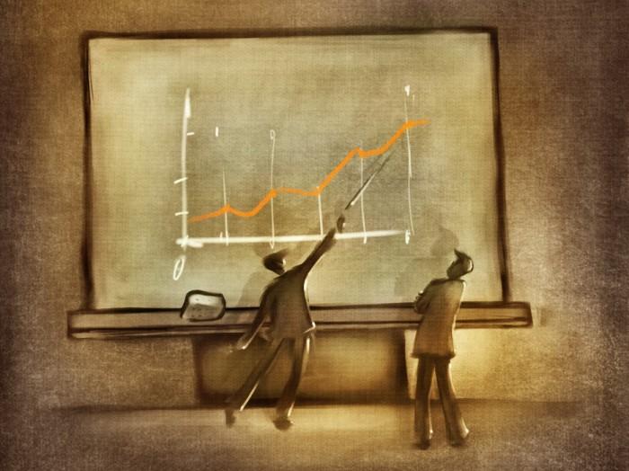 Chart on Chalkboard