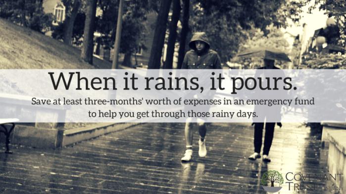Covenant Trust Company When it rains it pours